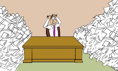 Photo pour Overloaded with Paperwork - image libre de droit
