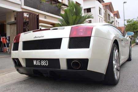 Back view of Lamborghini Gallardo sport car