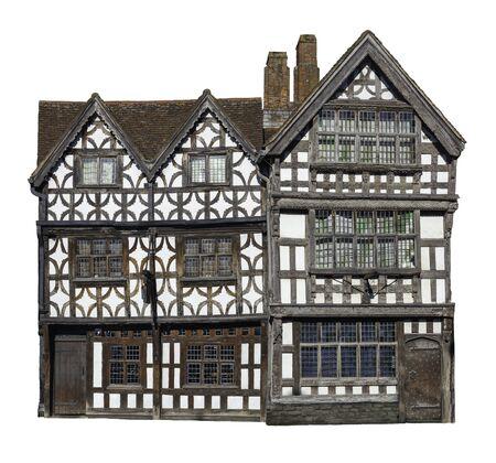 Photo pour Cut-out Tudor period building, England - image libre de droit