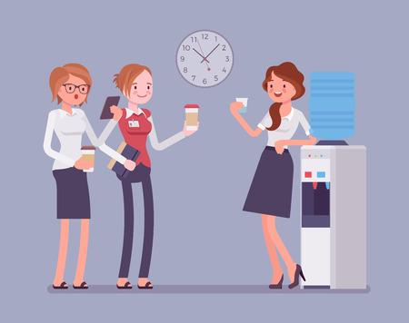 Illustration pour Office cooler chat - image libre de droit