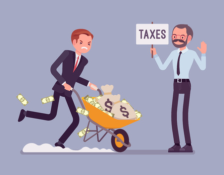 Illustration for Tax evasion attempt - Royalty Free Image