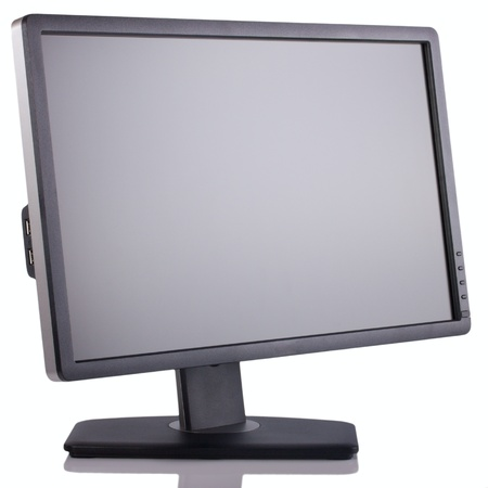 Wide Screen LCD  computer monitor isolated on white background.
