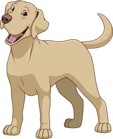 Illustration pour illustration funny dog thoroughbred on a white background - image libre de droit