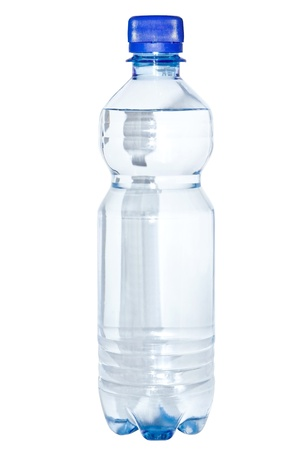 A bottle of clean water isolated on a white background