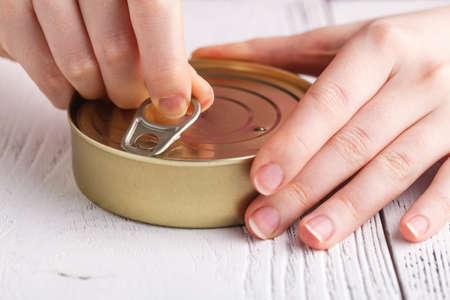 tin of sprats in oil