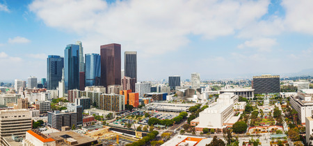 Los Angeles cityscape panorama on a sunny day
