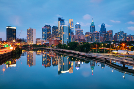 Photo for Philadelphia cityscape at sunrise with the Delaware river - Royalty Free Image