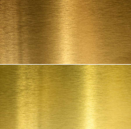 Brushed bronze and brass stitched textures