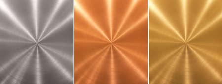 Aluminum brass bronze stitched metal plates cone gradient
