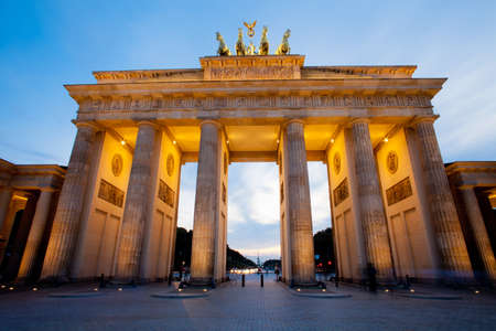 Brandenburg Gate (Brandenburger Tor) in Berlin night shot