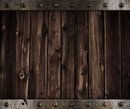metal and wooden background