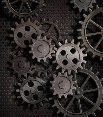 Photo pour rusty gears metal background - image libre de droit