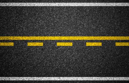 Photo pour Asphalt highway with road markings background - image libre de droit