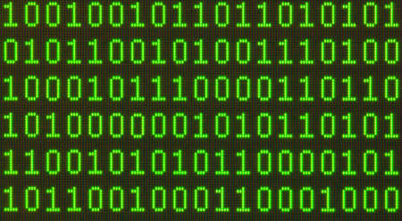 Seamless pattern  Binary data on LCD screen macro shot