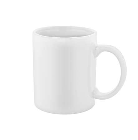 Photo pour white coffee cup isolated  - image libre de droit