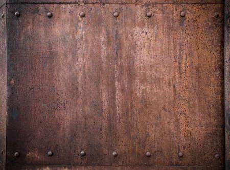 Photo pour old metal background with rivets - image libre de droit