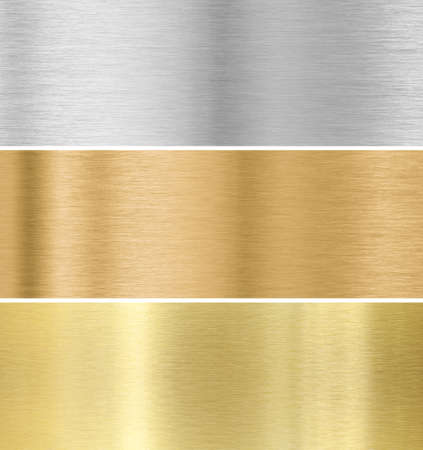 metal texture background  gold, silver, bronze collection