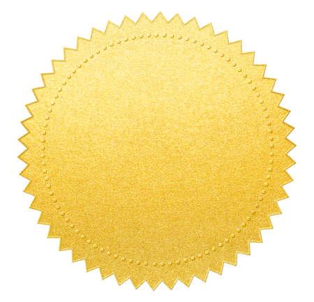 gold paper seal or medal