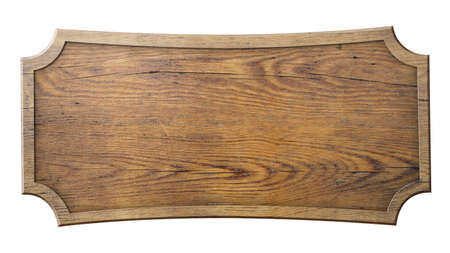 Photo for wood sign isolated on white background - Royalty Free Image
