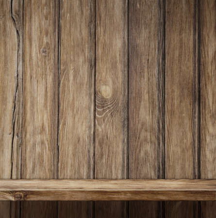 Empty wood shelf background