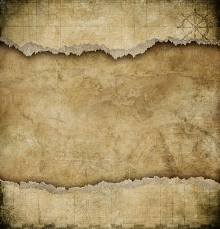 Photo pour old torn paper vintage map background - image libre de droit