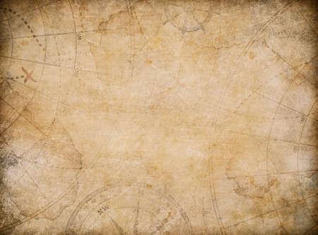 aged treasure map illustration background