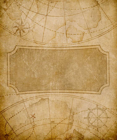 aged map cover template or background