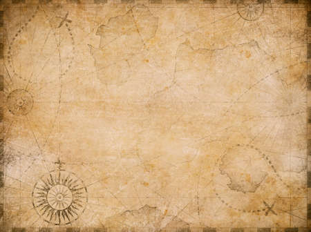 Photo pour medieval nautical reasure map background - image libre de droit