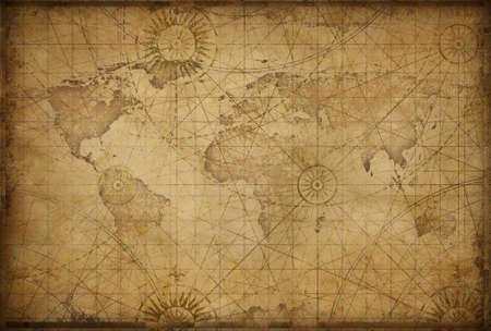 retro styled world map
