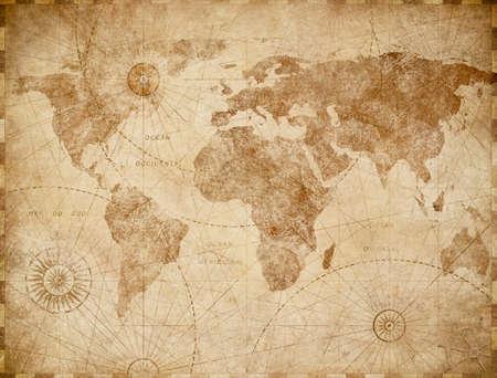 Medieval world map vintage stylization
