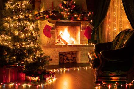 Foto de Christmas living room home interior - Imagen libre de derechos