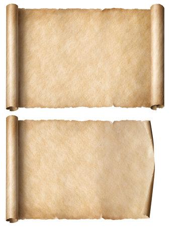 Foto de old paper horizontal scrolls set isolated - Imagen libre de derechos