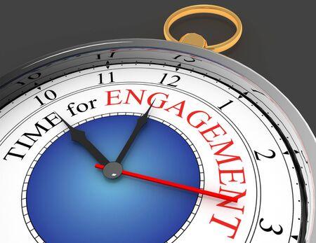Foto de Engagement time red word on concept clock - Imagen libre de derechos