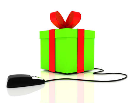 Photo for 3d online gift concept - Royalty Free Image