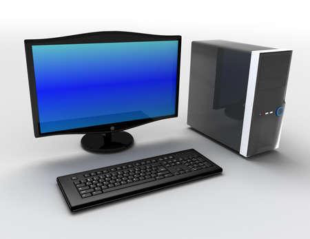 Photo pour 3d desktop pc concept - image libre de droit