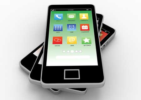 Photo pour smartphone concept 3d - image libre de droit
