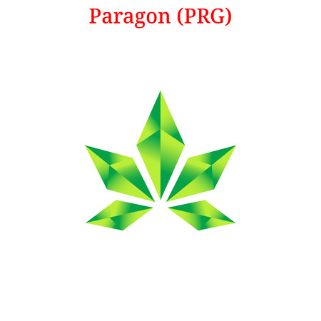 Paragon digital cryptocurrency icon vector illustration isolated on white background.