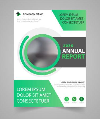 Illustration pour Business  annual report brochure flyer design template - image libre de droit