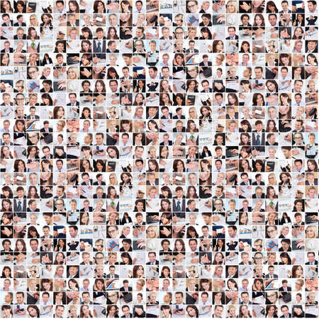 Photo pour Large set of various business images in the office - image libre de droit