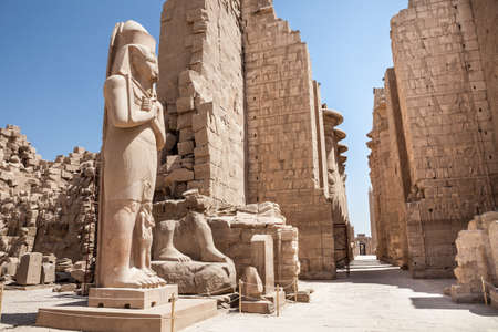 Colossal Statue Of Pharaoh At Karnak Temple, Luxor, Egypt