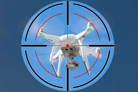 Photo for Close-up Of Shooting Range Target On Drone - Royalty Free Image