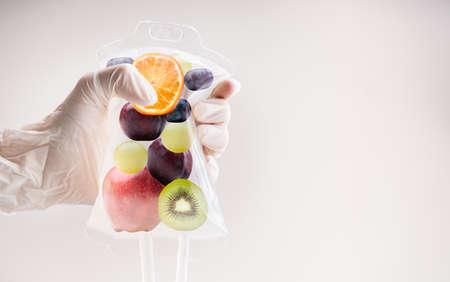 Foto für IV Drip Vitamin Infusion Therapy Saline Bag - Lizenzfreies Bild