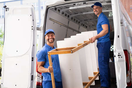 Photo for Furniture Move And Delivery Service. House Removal - Royalty Free Image