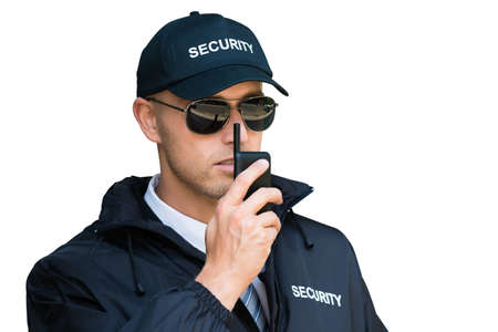 Photo for Security Guard Man Service. Defense And Protection - Royalty Free Image
