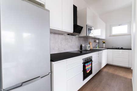 Photo pour Interior View Of Modern Kitchen Interior At Home - image libre de droit