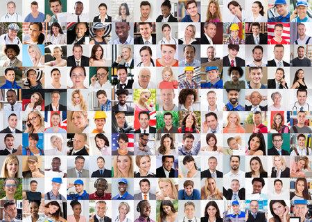 Photo pour Professional People In Uniform Collage Set Photo - image libre de droit
