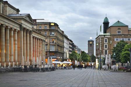King street in Stuttgart. Germany