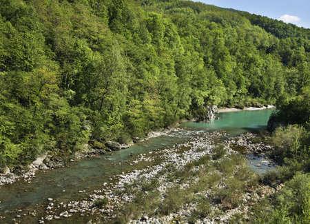 Soca river near Kanal. Slovenia