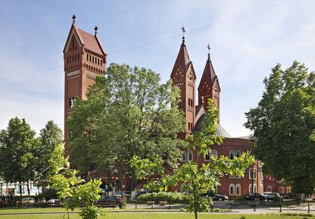 Church of Saints Simon and Helen - Red Church in Minsk. Belarus