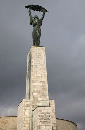 Liberty statue at Gellert hill in Budapest. Hungary